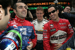 Dario Franchitti, Sébastien Bourdais and Helio Castroneves