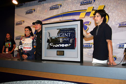 Danica Patrick and Tomas Enge at a promo event