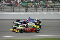 Scott Sharp, Tony Kanaan and Dario Franchitti
