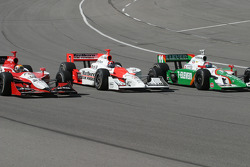 Dan Wheldon, Helio Castroneves and Tony Kanaan