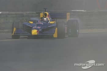 Patrick Carpentier loops it in the bus stop