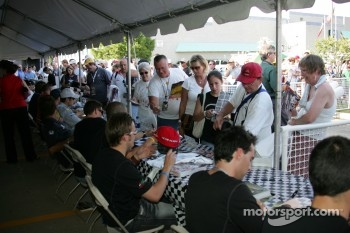 Autograph session: fans at autograph session