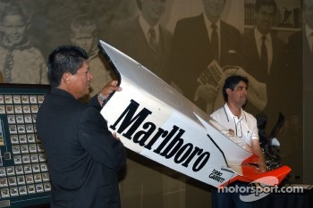 Damaged Al Unser, Jr. Penske sidepod from 1999 Chicago CART race up for auction