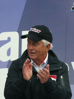 Roger Penske celebrates Sam Hornish Jr.'s Championship
