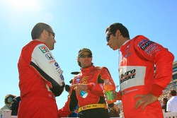Dario Franchitti, Bryan Herta and Helio Castroneves