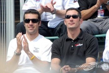 Dario Franchitti and Max Papis