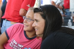 Danica Patrick and a fan