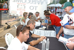 Drivers at the autograph session