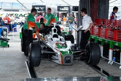 The Team 7-Eleven car gets a final check