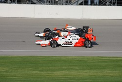 Helio Castroneves and A.J. Foyt IV