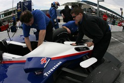 Dreyer & Reinbold Racing crew members at work