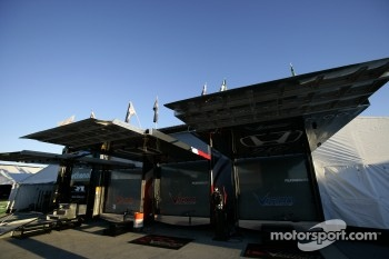 Vision Racing paddock area