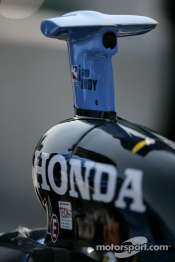 Detail of the Rahal Letterman Racing car of Danica Patrick