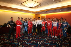 The 91st Indianapolis 500 field in a press opportunity in New York