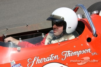 Larry Foyt drives his grandfather's 1967 winning car during the ceremony lap