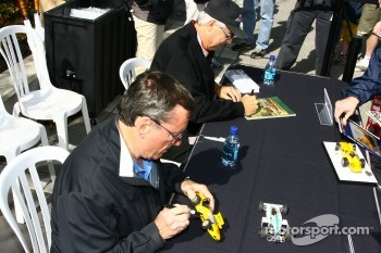 Autograph session: Johnny Rutherford and Rick Mears