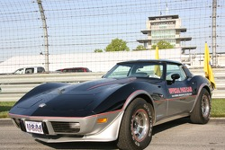 Vintage Corvette from the '70s ear on display