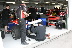 Super Aguri Panther Racing crew members at work