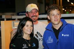 Autograph session: Danica Patrick and Marco Andretti