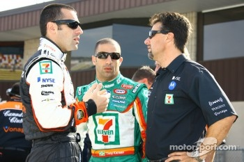Dario Franchitti, Tony Kanaan and Michael Andretti