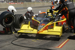 Vitor Meira pits for tires and fuel
