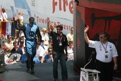 Michael Andretti and Kim Green are presented