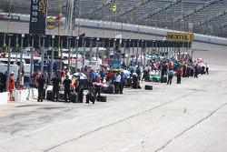 Pit lane during practice