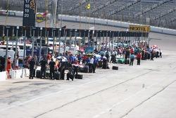 Pit lane during practice