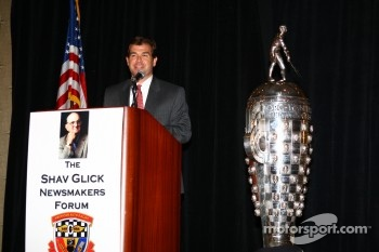 IMS President and Chief Operating Officer Joie Chitwood spoke at the Shav Glick Newsmakers Forum