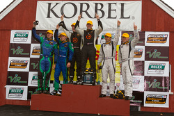 ST podium: class winners Ryan Eversley and Karl Thomson, second place Tyler McQuarrie and Nicolas Rondet, third place Andrew Carbonell and Rhett O'Doski