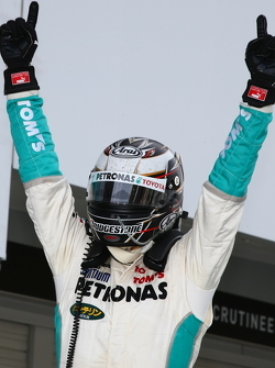 Race winner Andre Lotterer celebrates