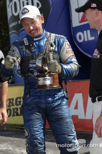 Jack Beckman celebrating after winning the Southern Nationals