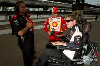 Helio Castroneves, Team Penske with Sam Schmidt
