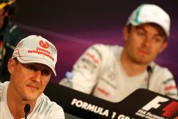 Michael Schumacher, Mercedes GP Petronas F1 Team, Nico Rosberg, Mercedes GP Petronas F1 Team