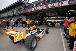 Dreyer & Reinbold Racing of Paul Tracy heads to pitlane