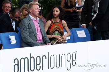 Boris Becker, and his wife Sharlely Becker-Kerssenberg, Amber Lounge Fashion