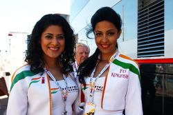 Force India F1 Team girls