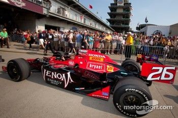 Car of Marco Andretti, Andretti Autosport rolled to pitlane