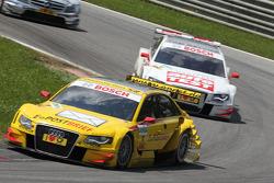 Mike Rockenfeller, Audi Sport Team Abt Sportsline Audi A4 DTM. Timo Scheider, Audi Sport Team Abt Audi A4 DTM