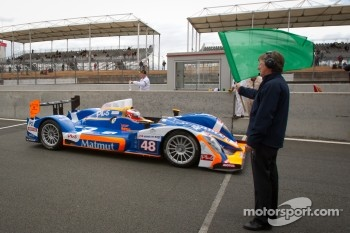 #48 Team Oreca Matmut Oreca 03-Nissan: Alexandre Prémat, David Hallyday, Dominik Kraihamer takes the green flag