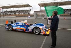 #48 Team Oreca Matmut Oreca 03-Nissan: Alexandre Prémat, David Hallyday, Dominik Kraihamer takes the green flag
