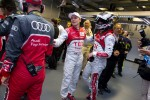 André Lotterer celebrates pole with Marcel Fässler