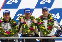 LM P2 podium: third place Scott Tucker, Christophe Bouchut, Joao Barbosa