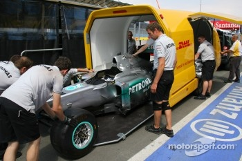 Car of Nico Rosberg, Mercedes GP Petronas