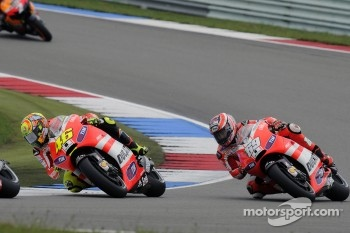 Valentino Rossi and Nicky Hayden