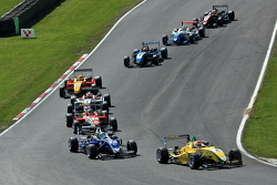 Felipe Nasr leads a group