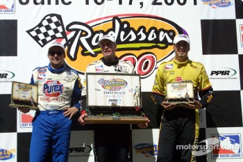 Robbie Buhl, Buddy Lazier and Sam Hornish Jr.