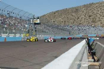 The start: Helio Castroneves and Sam Hornish Jr.