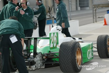 Paul Tracy getting ready to head out on the track