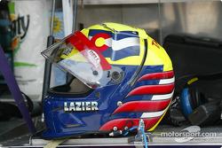 Buddy Lazier's helmet
